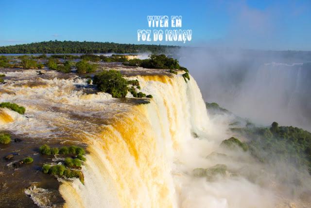 Saltos das Cataratas do Iguaçu em Foz do Iguaçu