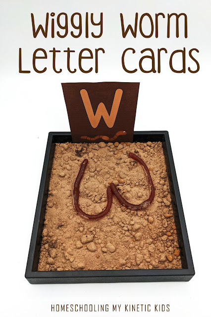 Free printable letter and number cards for practicing handwriting with a worm theme for the springtime garden.