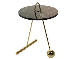 mesa redonda auxiliar marmol