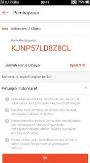 belanja online shopee free ongkir-kode pembayaran