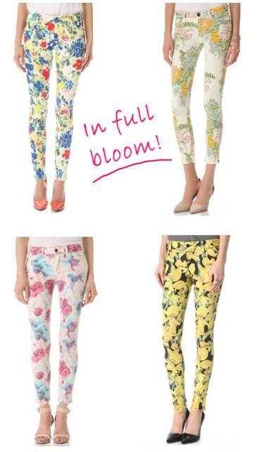 Floral denim trend