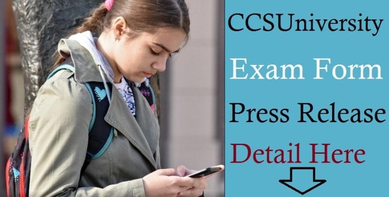 [LAST DATE] CCS University BACK Paper Exam Form 2020