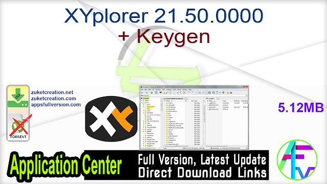 XYplorer 21.50.0000 + Keygen
