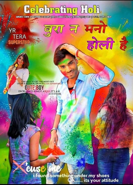 Happy Holi Photo Editing in Picsart 2021   Holi Special Photo Editing Background Hd