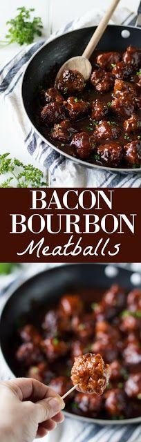 Bacon Bourbon Meatballs