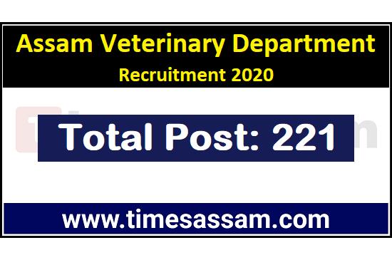 Assam Veterinary Department Recruitment 2020
