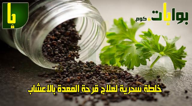 خلطة سحرية لعلاج قرحة المعدة بالاعشاب