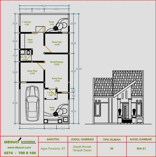 Desain Denah Rumah Minimalis Type 40  denah rumah ruang tamu luas desain kamar rumah minimalis