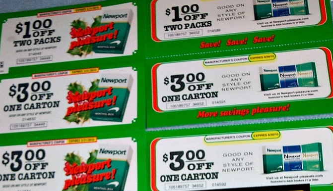 image about Newports Coupons Printable named Newport cigarette discount coupons printable / Chase coupon 125 funds