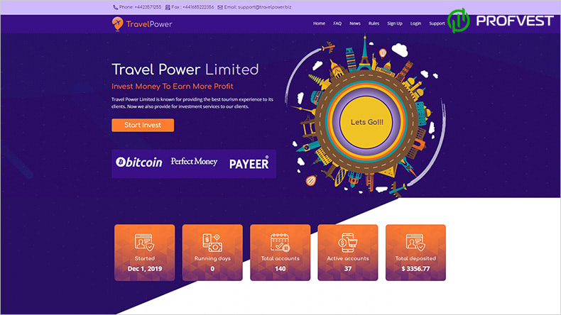 Travel Power Limited обзор и отзывы HYIP-проекта