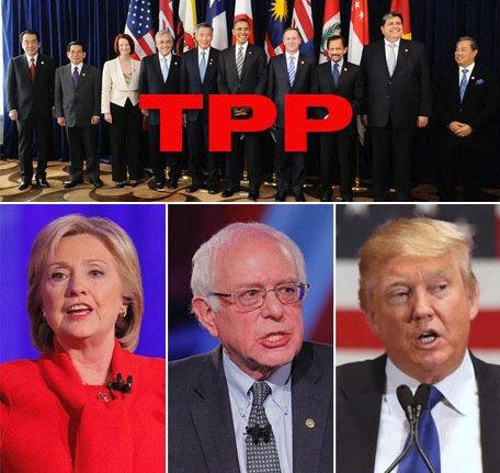 TPP - Bernie Sanders Hillary Clinton Donald Trump