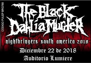 Concierto de THE BLACK DAHLIA MURDER en Bogotá
