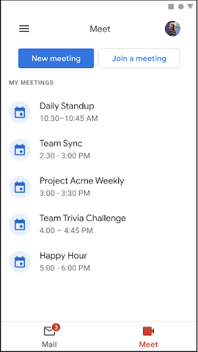 Google Meet in Gmail now rolling out on Android 1