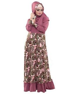 Long Dress Batik Modern Kombinasi