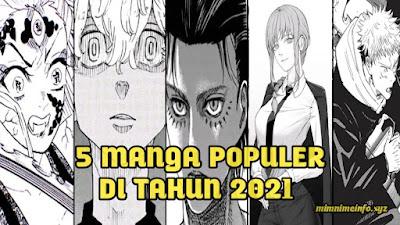 5 Manga Paling Populer di Tahun 2021 Menurut Situs Oricon