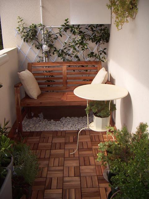 Construindo minha casa clean decora o e diferen a entre varandas sacadas e terra os - Como decorar un patio pequeno interior ...