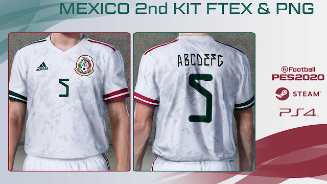 PES 2020 Mexico 2nd Kit by pasaco2009