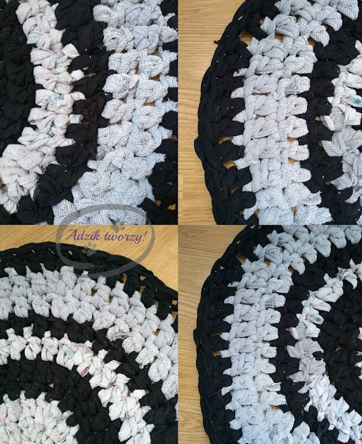 Dywan zrobiony ze starych ubrań - Adzik tworzy