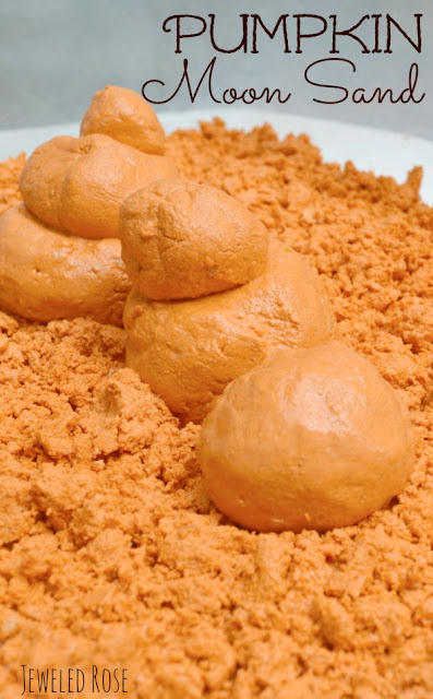 Pumpkin Moon Sand Recipe from Growing a Jeweled Rose- amazing Fall activity for kids