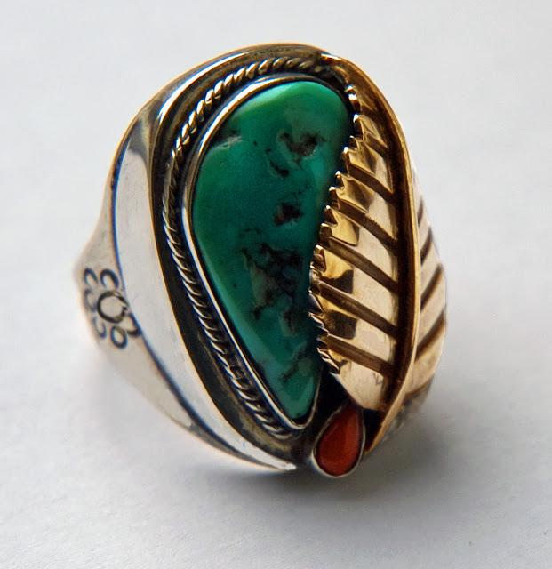Navajo style men's ring Ashkibag