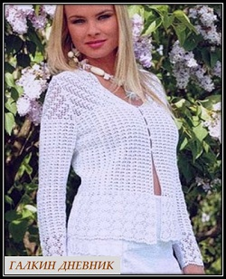 krujevnoi jaket kryuchkom shemi i opisanie knitting