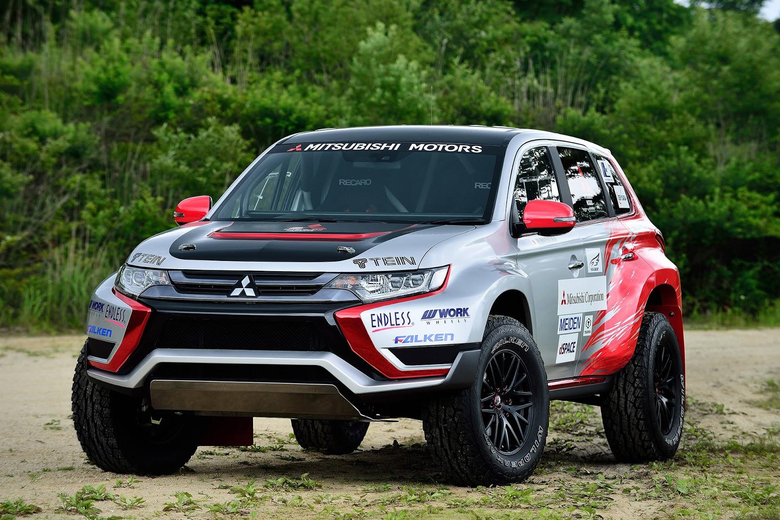 001 Η Mitsubishi συμμετέχει σε χωμάτινο αγώνα 500Km με το plug-in υβριδικό Outlander PHEV