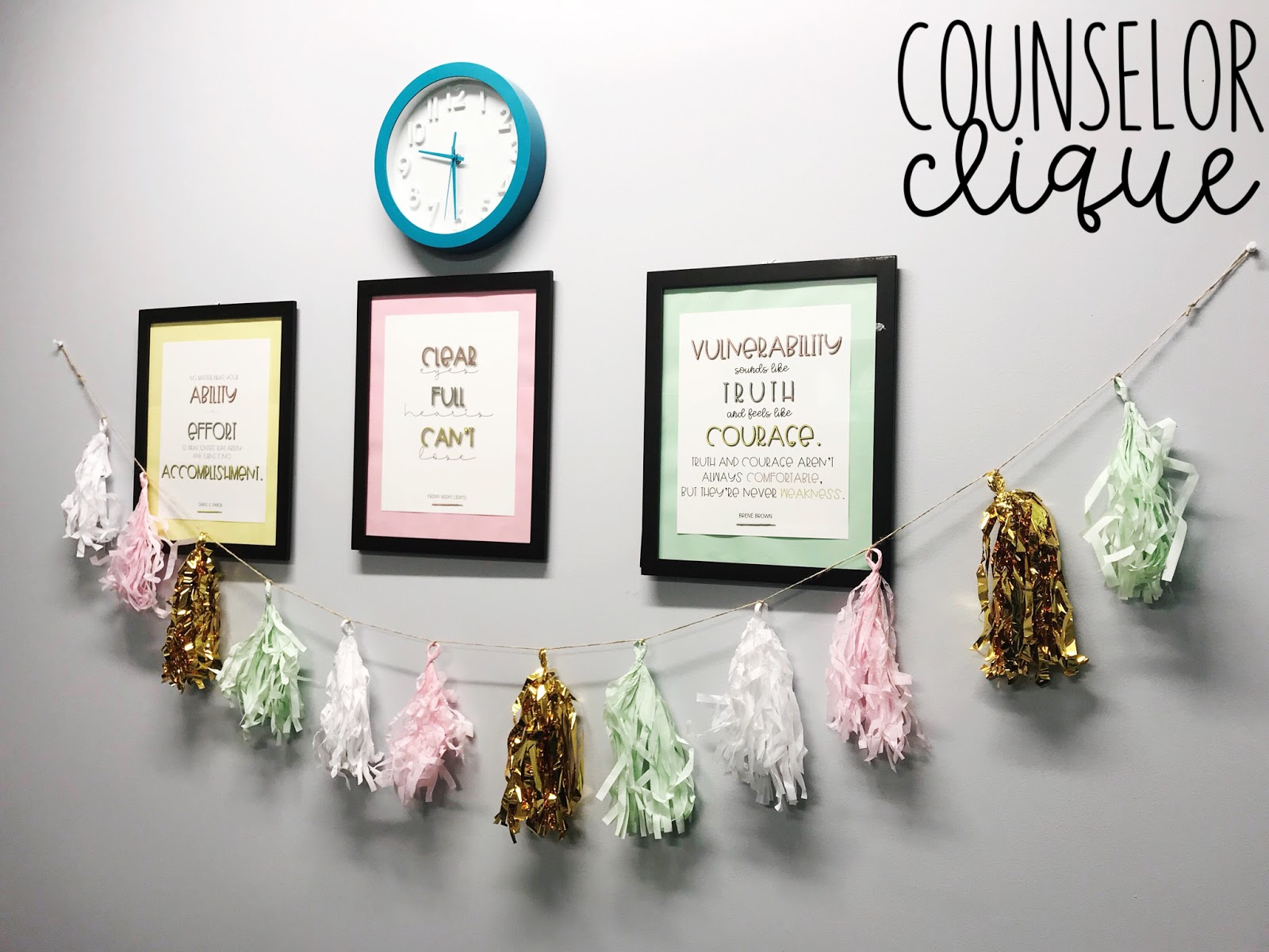 I Got The Party Garland From Target HERE. If You Hang Them In Your Office,  Take A Pic And Tag Me On Instagram!