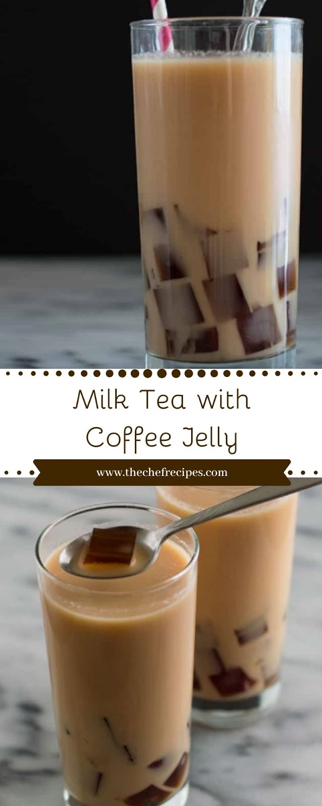 Milk Tea with Coffee Jelly