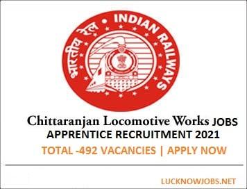 Chittaranjan Railway Recruitment 2021 for apprentice | Apply Online