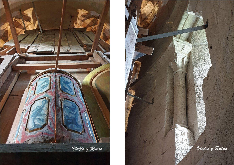 Parte trasera del retablo y ventana de Xunqueira de Espadanedo
