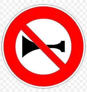 علامة منع إستعمال المنبه الصوتي الكلكصون