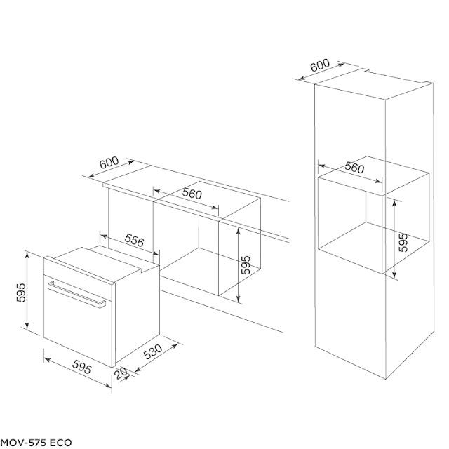 Lò nướng âm tủ Malloca MOV-575 ECO