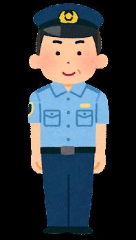 警察官のイラスト(シャツ・中年男性)