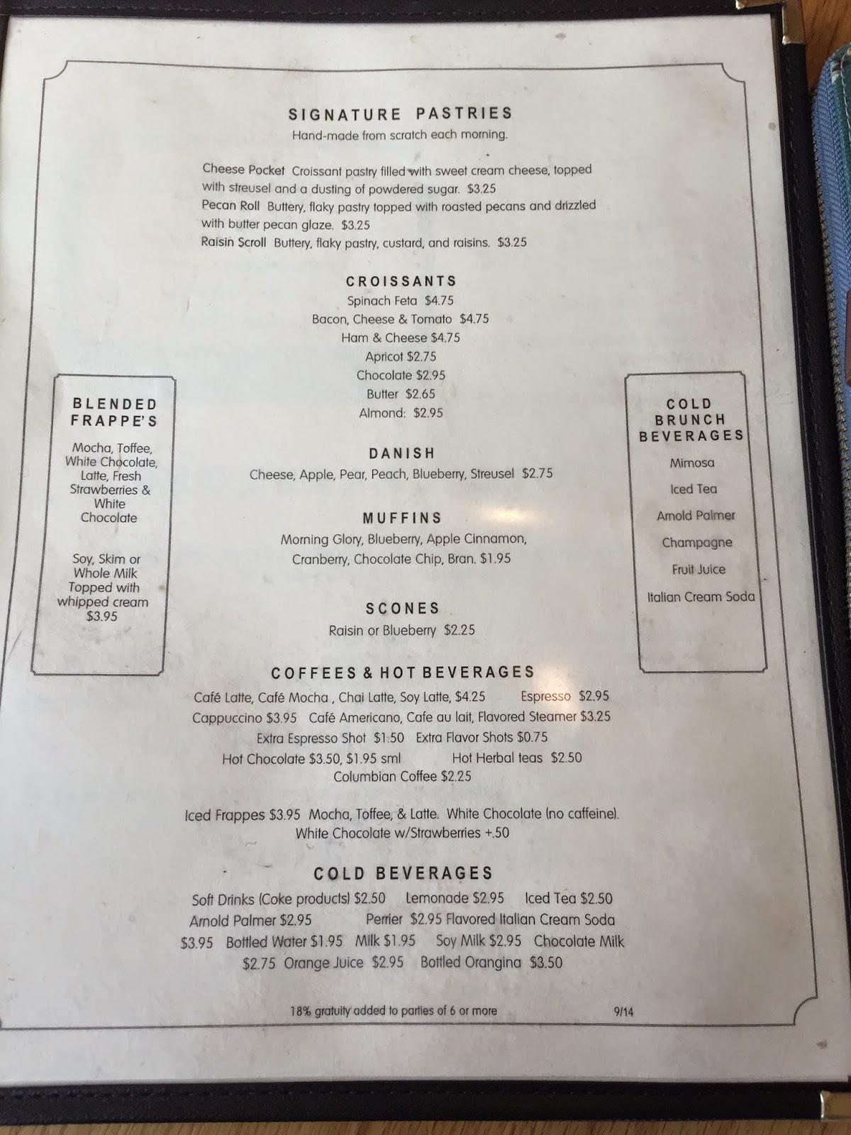gourmandise bakery SLC menu