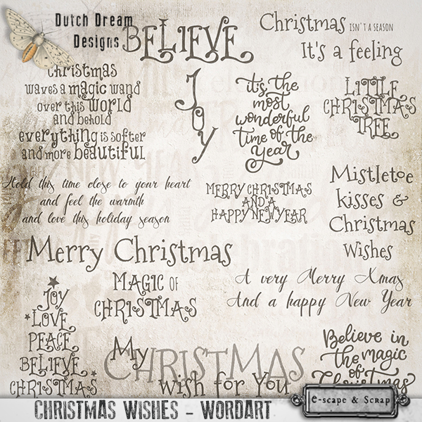 CHRISTMAS WISHES WORDART