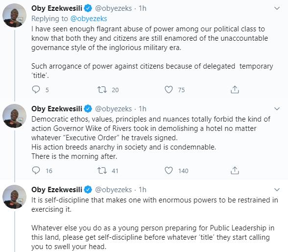 Oby Ezekwesili and governor wike