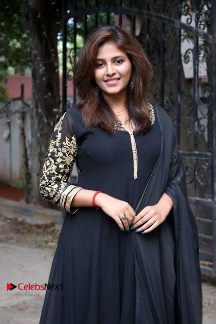 Anjali Latest Stills in Black Anarkali Dress at Taramani Success Meet .COM 0007.jpg