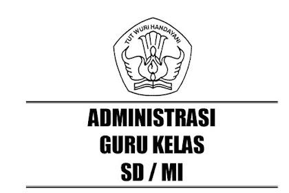 Administrasi Guru Kelas SD/MI Terlengkap Madrasahonline.info