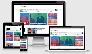 NewsPro - Responsive Blog And Magazine Blogger Theme
