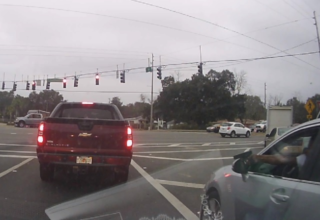 Terrifying shootout caught on dash cam at north Florida intersection