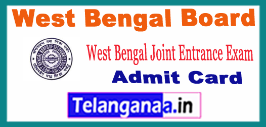 West Bengal Board Joint Entrance Exam Admit Card 2018
