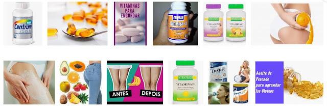 Vitaminas para engordar las piernas y glúteos