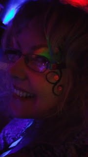Nicky with Eye Candy Glow Paint