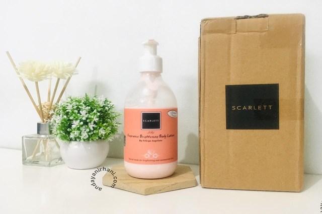 review scarlett whitening body lotion jolly 2