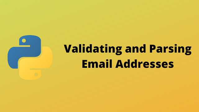 HackerRank Validating and Parsing Email Addresses solution in python