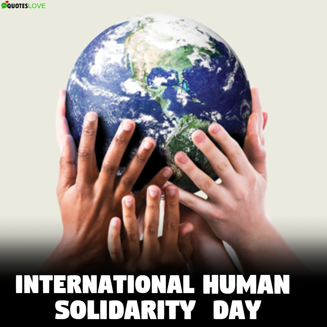 (Latest) International Human Solidarity Day 2019 Images, Poster