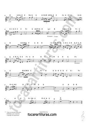 Hoja 2 Easy Notes Sheet Music for Treble Clef, Violins, Flutes, Saxophones, Clarinets, Trumpets, Horns... Partitura con Otras Notas en Inglés Clave de Sol Notes Sheet Music PDF/MIDI