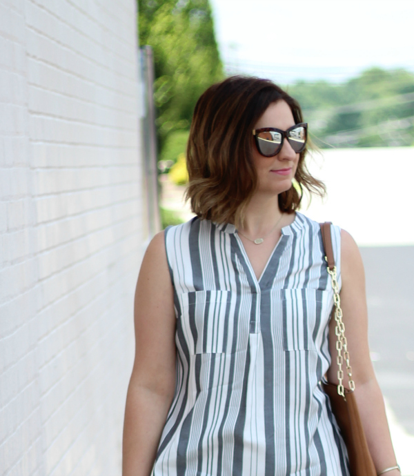 striped shirt dress, style on a budget, how to style a shirt dress, summer style, budget friendly fashion
