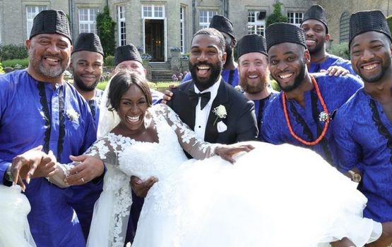 BBNaija-2019-Mike-wife-wedding-pictures