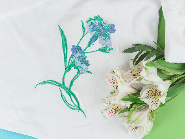 Машинная вышивка на одежде: фото